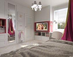 Przestrzenie dla dzieci. - Średni pokój dziecka dla dziewczynki dla nastolatka, styl klasyczny - zdjęcie od Agata Hann Architektura Wnętrz