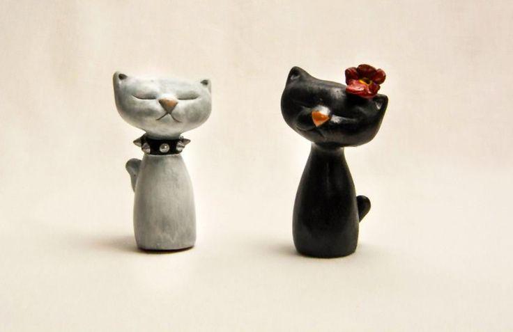 Coppia di gatti in terracotta di RobArt Creazioni su DaWanda.com