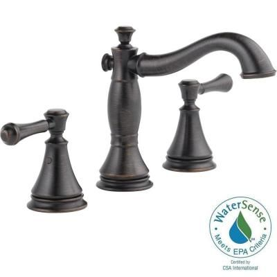 Delta Cassidy 8 in. Widespread 2-Handle High-Arc Bathroom Faucet in Venetian Bronze - 3597LF-RBMPU - The Home Depot