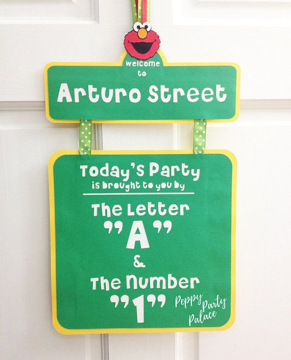 39 best sesame street birthday images on pinterest elmo party celebrate their special day with a customized elmo party door sign design custom sesame streetelmo birthday party door sign customize with the childs pronofoot35fo Choice Image