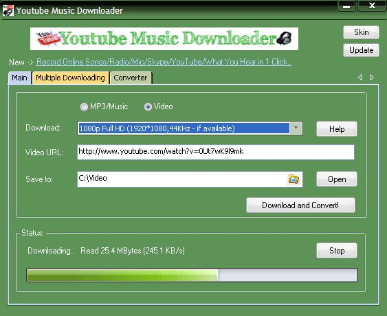 YouTube Music Downloader Serial Key is a software enables you to download, convert and play videos from YouTube, Yahoo Online video, Google Video, and a lot