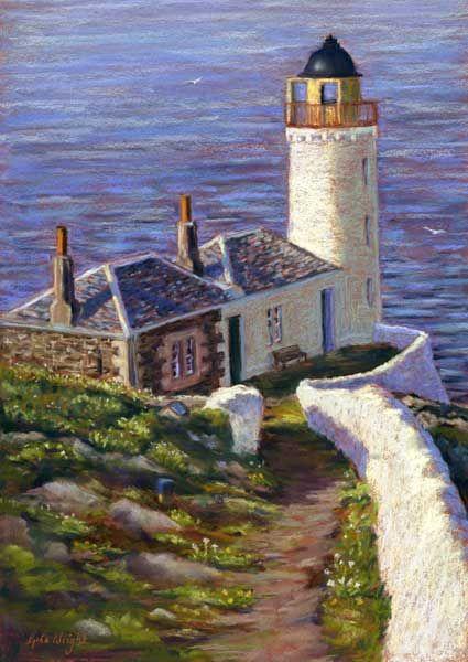Gina Wright, Low Light, Isle Of May, Pastel | Scottish Contemporary Art