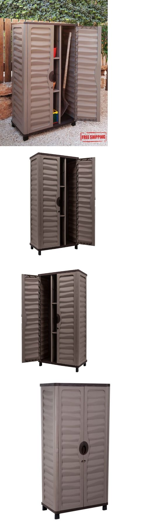Garden and Storage Sheds 139956: Outdoor Storage Cabinet Garden Utility Plastic Horizontal Shed Garage Lockable -> BUY IT NOW ONLY: $419.86 on eBay!