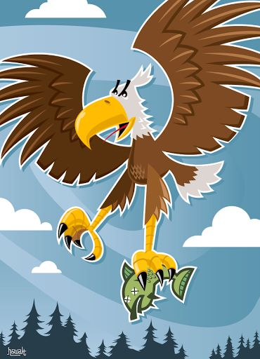 Eagle vector illustration designed by Paul Howalt for Kono Magazine's endangered species series. #TactixCreative #eagle #graphicdesign
