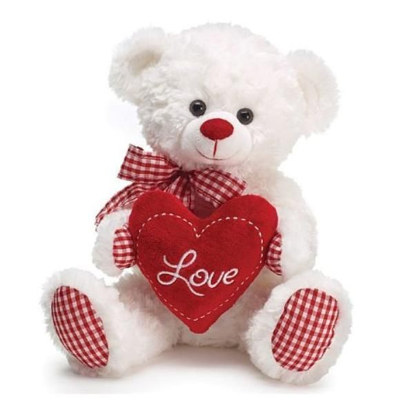 Teddy Bear With Heart Lovely Valentine Day Gift Red Heart Teddy Bear  Stuffed Animals Toy Plush Teddy Bear With Heart