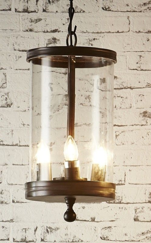 Inspired by mid-20th century industrial lighting fixtures, the Carnaby's steel and glass body retains the clean lines and practical function of the originals.  Available in either a bronze or nickel finish.  Diameter: 23cm  Height: 48cm  Lamp: E27 x 3
