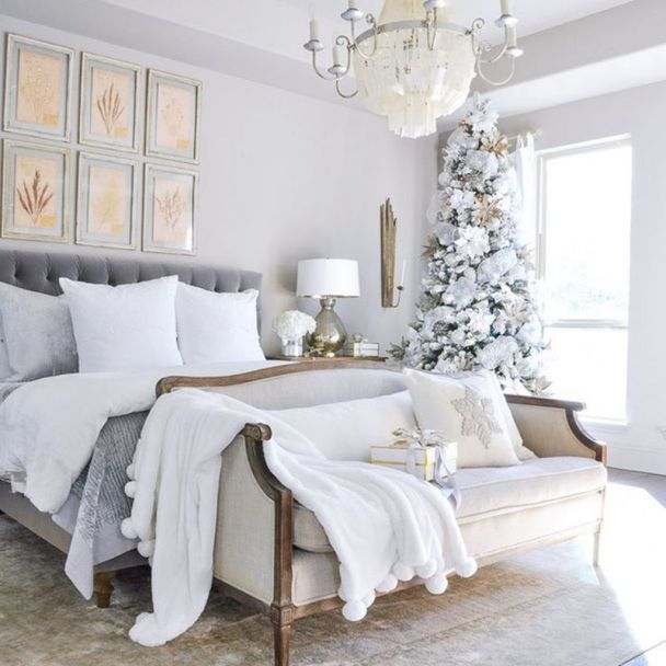 36 Gorgeous Master Bedroom Decor Ideas For Wintertime Magzhouse Master Bedrooms Decor Winter Bedroom Decor Christmas Decorations Living Room Lillie and lola christmas rooms