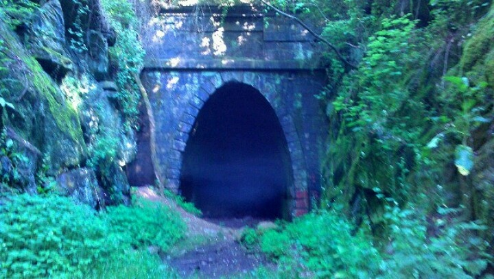 Abandoned train tunnel in waynesboro Virginia. Goes all the way through the mtn to charlottesville.: Kid