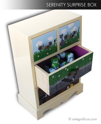 SERENITY BOX - painted wood box