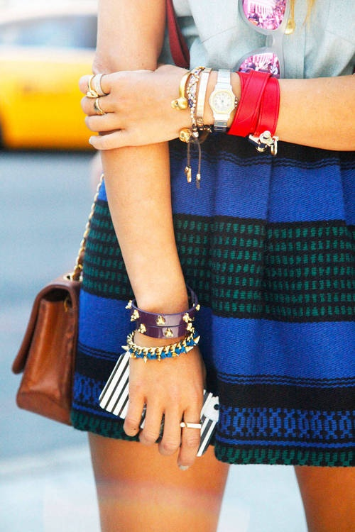 Accessorized during New York Fashion Week, Spring 2013