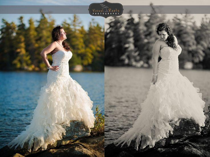 #Lakeside #Trashthedress #Bride #Muskoka #VisualRoots