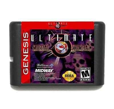 Ultimate Mortal Kombat 3 16 bit MD Game Card For Sega Mega Drive For Genesis