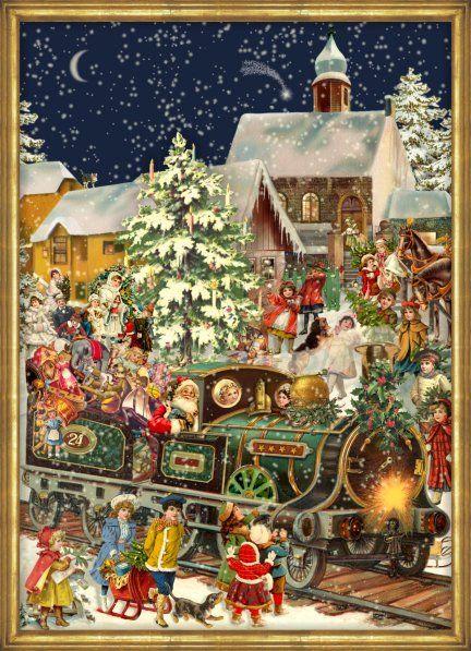 Victorian Christmas Train German Advent Calendar