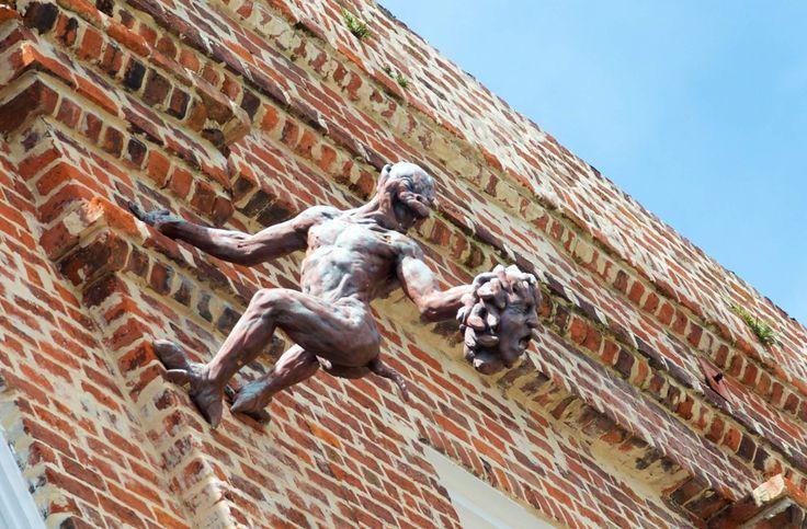In New Orleans A few absolutely terrifying gargoyles grace certain Uptown buildings