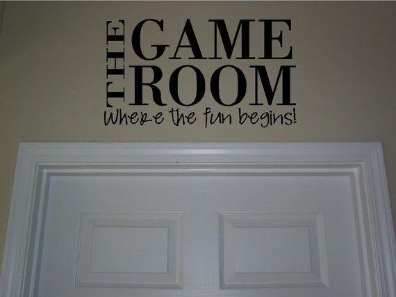 The game room buy 2 get 1 freevinyl lettering by jkvinyldesigns, $9.99