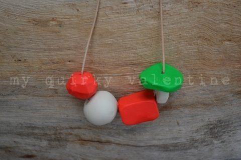 spring bounce-handmade polymer clay beads.