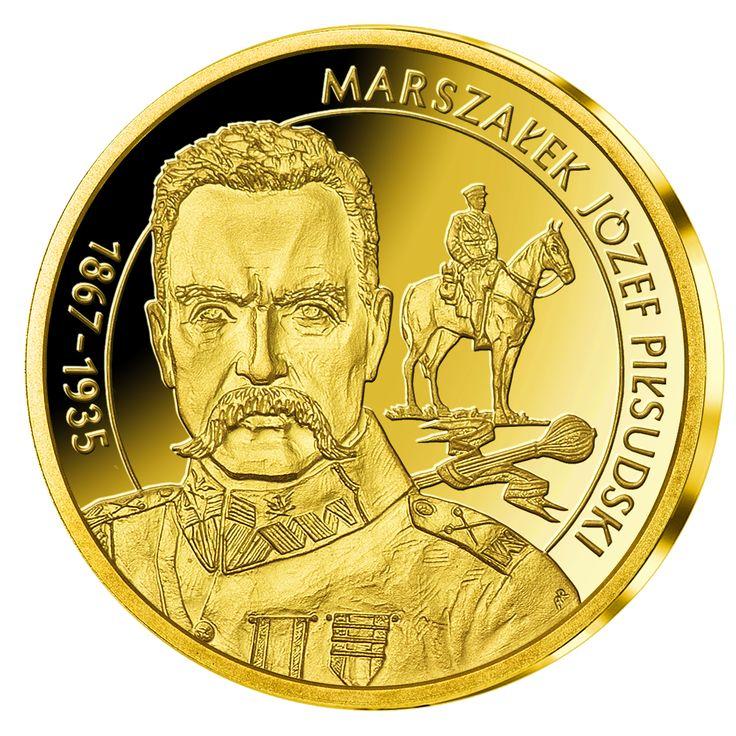 Skarbnica Narodowa przedstawia najnowszą złotą emisję upamiętniającą pierwszego Marszałka Polski – Józefa Piłsudskiego. Medal ten został wybity w najwyższej jakości menniczej w cennym złocie (585/1000). https://www.skarbnicanarodowa.pl/wielcy-polacy