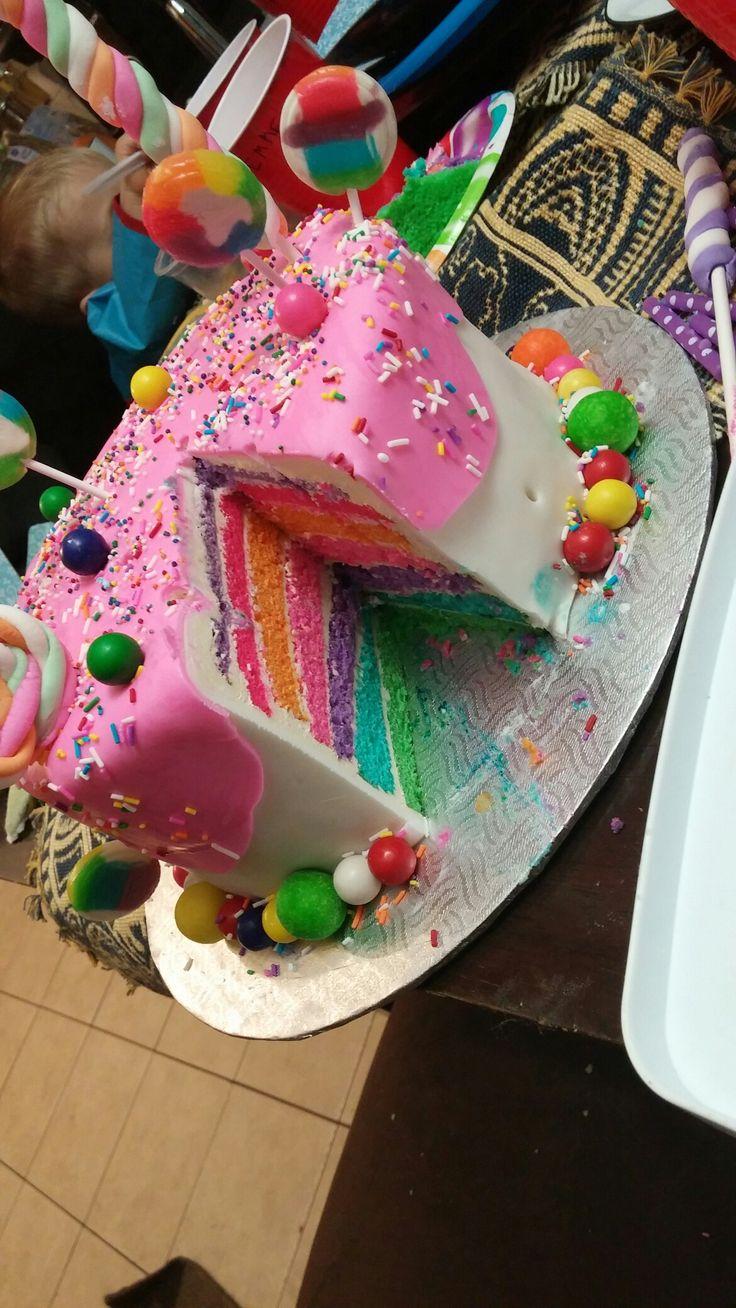 Gâteau bonbon et multicolore !!!! Je l'aimes tu assez ma filleule !!!!