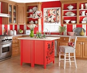 Use Dressers as Island for Kitchen by judy