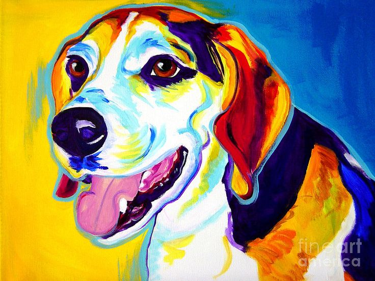 Beagle - Lou Painting
