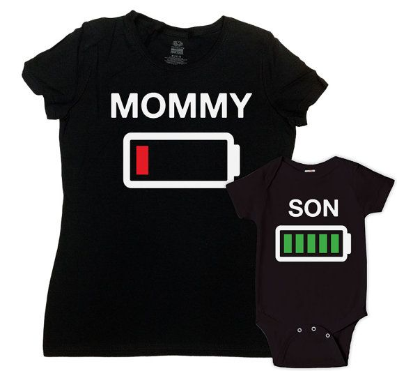 Matching Shirts Mom And Baby  - Price advertised includes a 2 Piece Matching Set. - Default Color is Black - If you prefer a different color, please