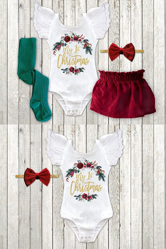 0d69b3350bfa Baby Girl 1st Christmas Outfit Velvet First Christmas Dress Newborn Christmas  Outfit Infant Christmas Dress 1st Christmas Dress