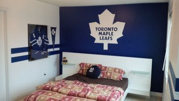 Toronto Maple Leafs Room traditional-bedroom