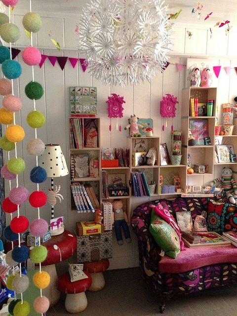 Colorful, fun, and funky decor