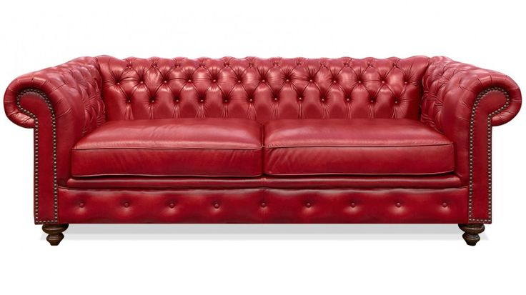 chester red pomegranate leather sofa. Black Bedroom Furniture Sets. Home Design Ideas