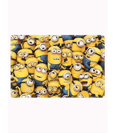 This Despicable Me Minion Floor Mat features a sea of Minions. The mat feels soft and squidgy under-foot and also benefits from a non-slip backing. Free UK delivery available.