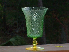 vaseline Turkey Track Swedish depression glass