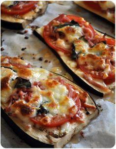 Aubergines façon pizza