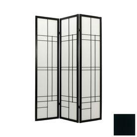 Oriental Furniture Eudes 6-Panel Black Folding Indoor Privacy Screen $289.00