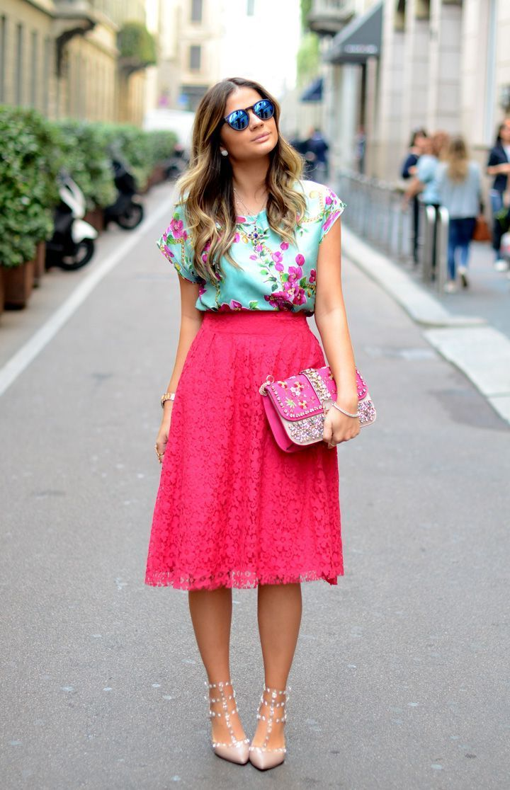 0263ffadc0c08 32 Ways To Wear Midi Skirts This Summer 2019 | Clothes I like in ...