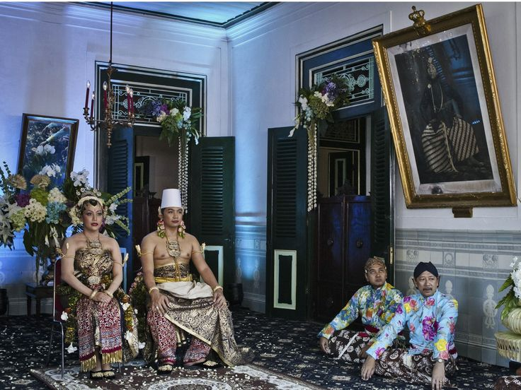 The fourth daughter of Sultan Hamengkubuwono X with her bridegroom at the Kraton Palace during their three-day wedding ceremony
