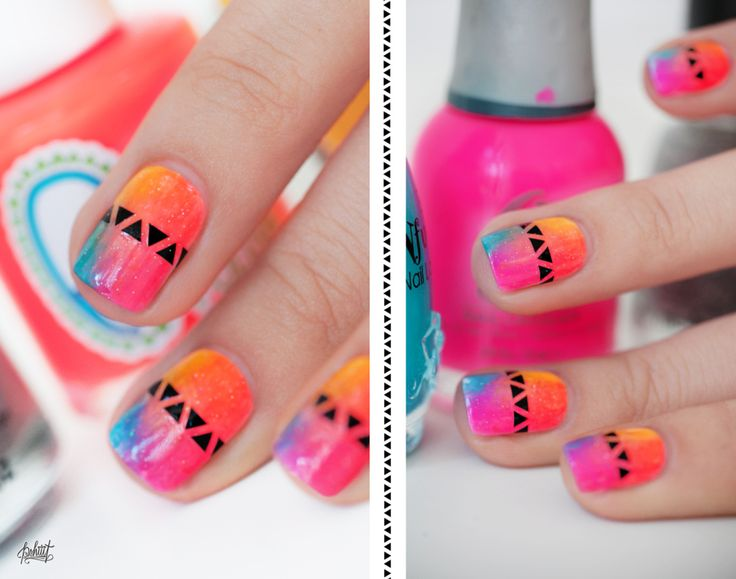 Too cute! A super cute and colorful design for almost anytime of the year! #LoveTheNails