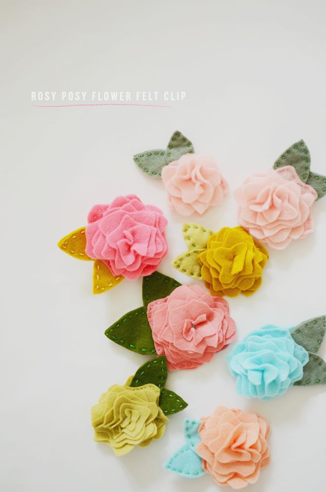 438 best craft flowers images on pinterest felt for Diy felt flower mobile