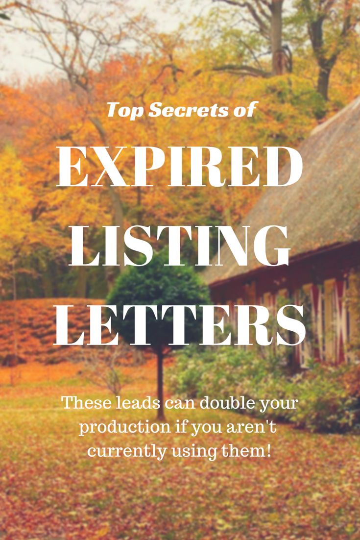 The Top Secrets of Expired Listing Letters! What do you have to do to double your business with these leads?