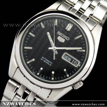 BUY SEIKO 5 Automatic Watch See-thru Back, SNK361K1 Logo Background Black - Buy Watches Online | SEIKO NZ Watches