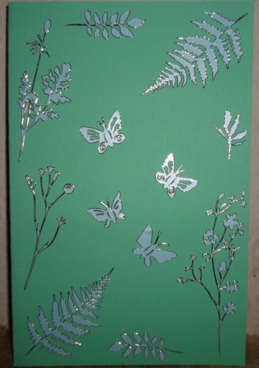 A card with leaves on.