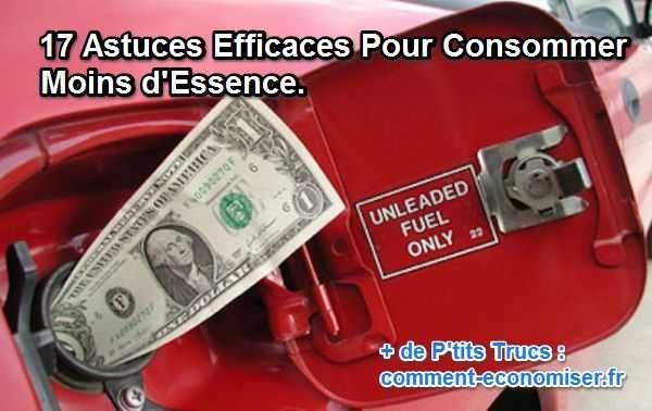 Avec l'augmentation du prix du litre, tout le monde cherche à réduire sa consommation d'essence. Voici 17 astuces pour économiser tout de suite 20% d'essence.  Découvrez l'astuce ici : http://www.comment-economiser.fr/consommer-moins-essence-voiture.html?utm_content=buffere6adc&utm_medium=social&utm_source=pinterest.com&utm_campaign=buffer