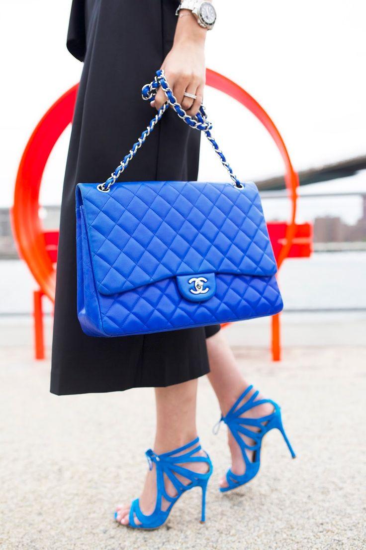 Chanel Jumbo flap bag & Chelsea Paris 'Ada' sandals #StreetStyle