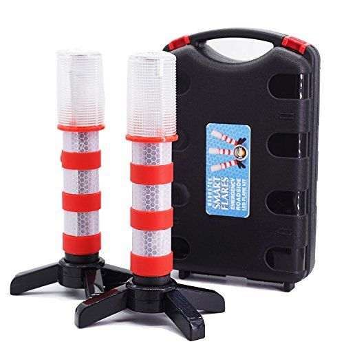 2 LED Emergency Road Flares Red Roadside Beacon Safety Strobe Light Warning Signal Alert Magnetic Base and Upright Stand in Solid Storage case for Car Marine Vehicles Trucks. For product info go to:  https://www.caraccessoriesonlinemarket.com/2-led-emergency-road-flares-red-roadside-beacon-safety-strobe-light-warning-signal-alert-magnetic-base-and-upright-stand-in-solid-storage-case-for-car-marine-vehicles-trucks/