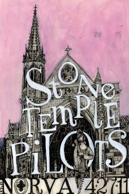 Stone Temple Pilots poster. Les Herman