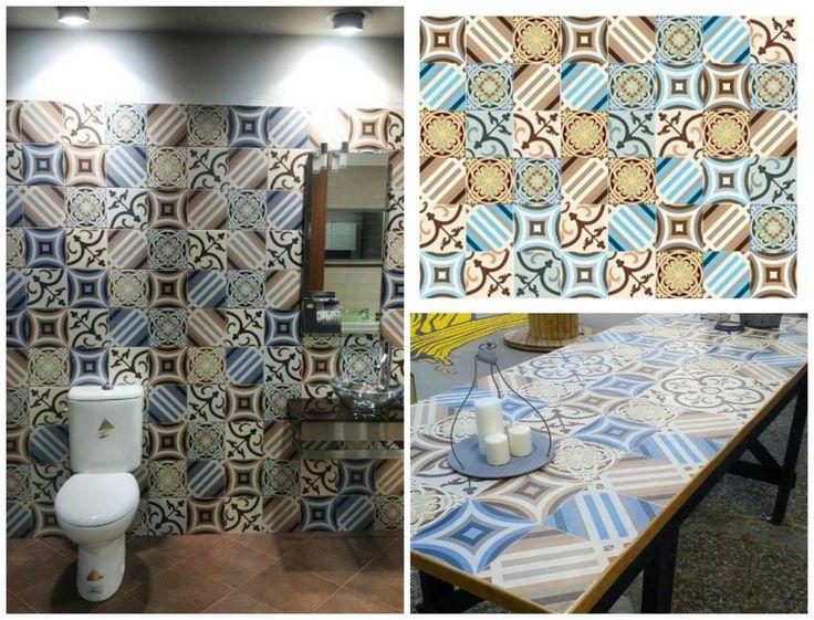 Tile 20 x 20 cm mixed designs.