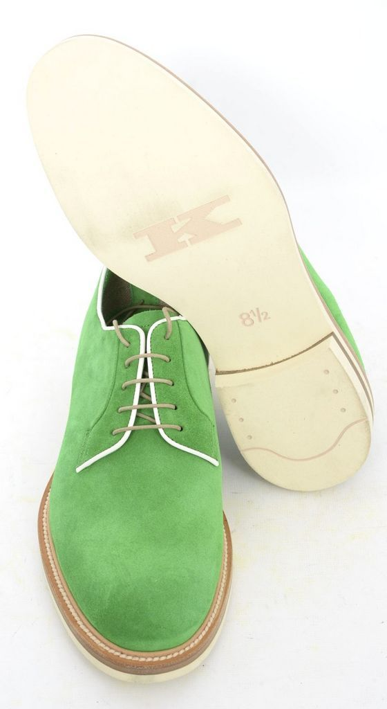 These Kiton lime green suede oxford lace up shoes really pop!  |  Find yours! http://www.frieschskys.com/shop-kiton  |  #frieschskys #mensfashion #fashion #mensstyle #style #moda #menswear #dapper #stylish #MadeInItaly #Italy #couture #highfashion #designer #shopping