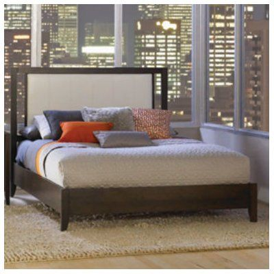 Dominion Bed with Upholstered Panel Upholstery: White, Size: California King - http://delanico.com/beds/dominion-bed-with-upholstered-panel-upholstery-white-size-california-king-690684634/
