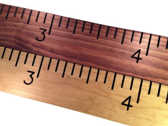 """Wooden Ruler Growth Chart - Routed Numbers & Inch Marks 6"""" 8"""" or 10"""" Wide - Gift for Family, Children, Housewarming, Baby, Kids Decor, Home on Etsy, $100.00"""