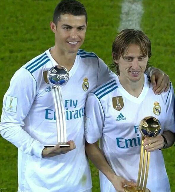 Modric Has Won The Club World Cup S 2k17 Golden Ball Award For Best Player And Cris Ha Ronaldo Football Cristiano Ronaldo Junior Christiano Ronaldo Soccer