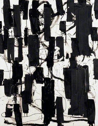 Patrick heron painting black and white 1956